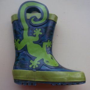 Other - Blue Green Rain Boots With Frog Toddler Size 5